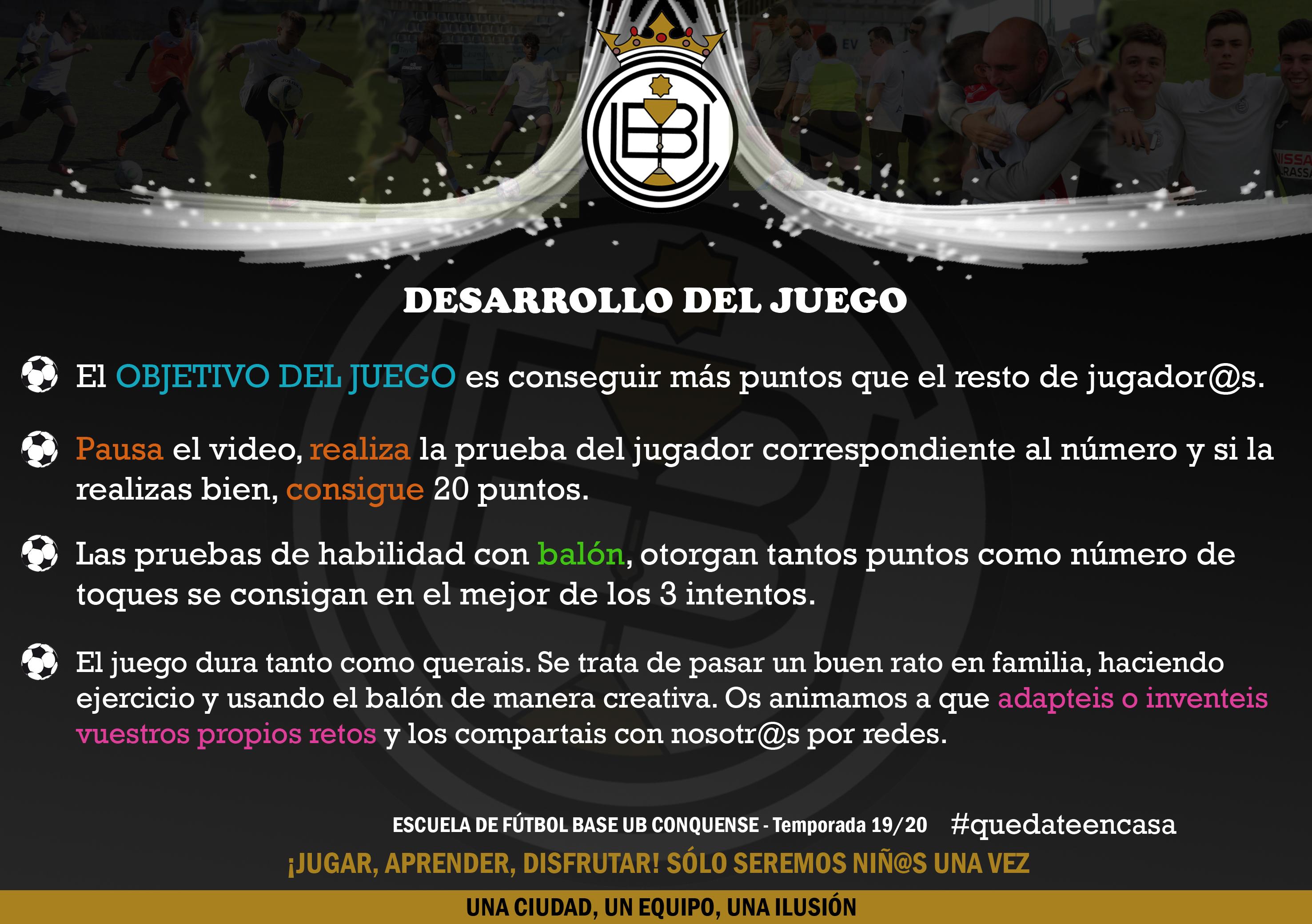 La Ruleta De Los Retos De La Escuela De Fútbol U B Conquense